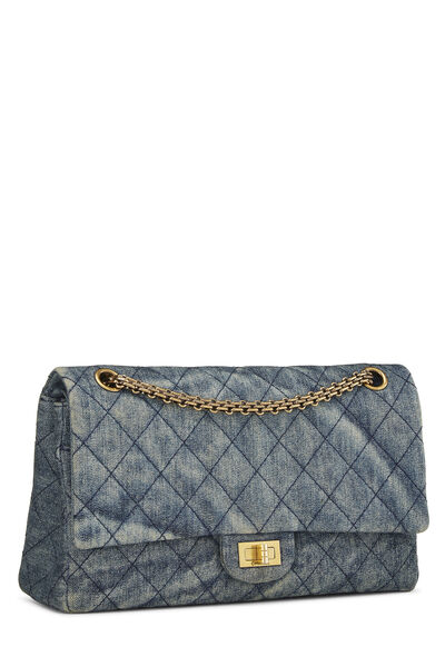 Blue Quilted Denim 2.55 Reissue Flap 226, , large