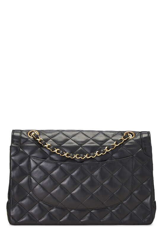 Black Quilted Lambskin Paris Limited Double Flap Medium, , large image number 3