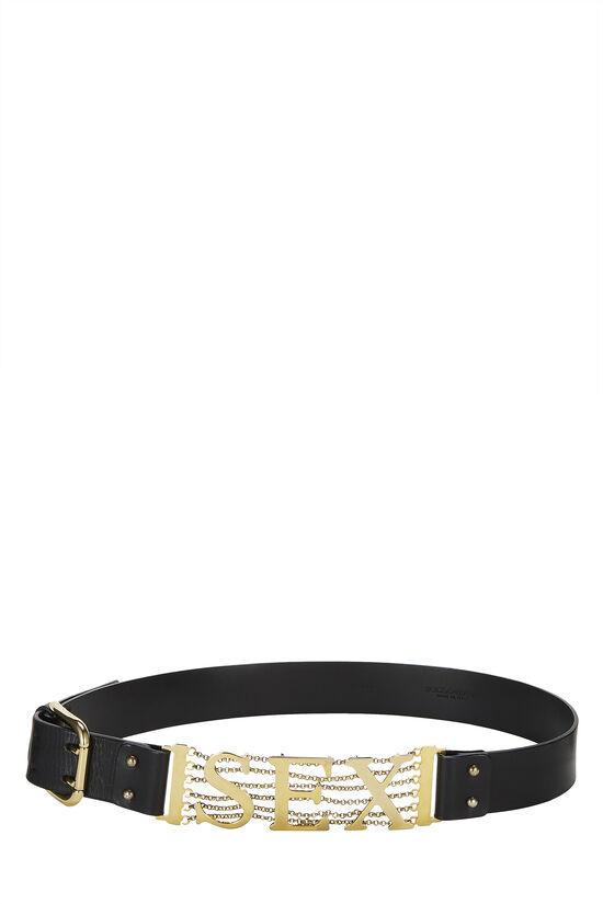 Black Leather Sex Belt, , large image number 0