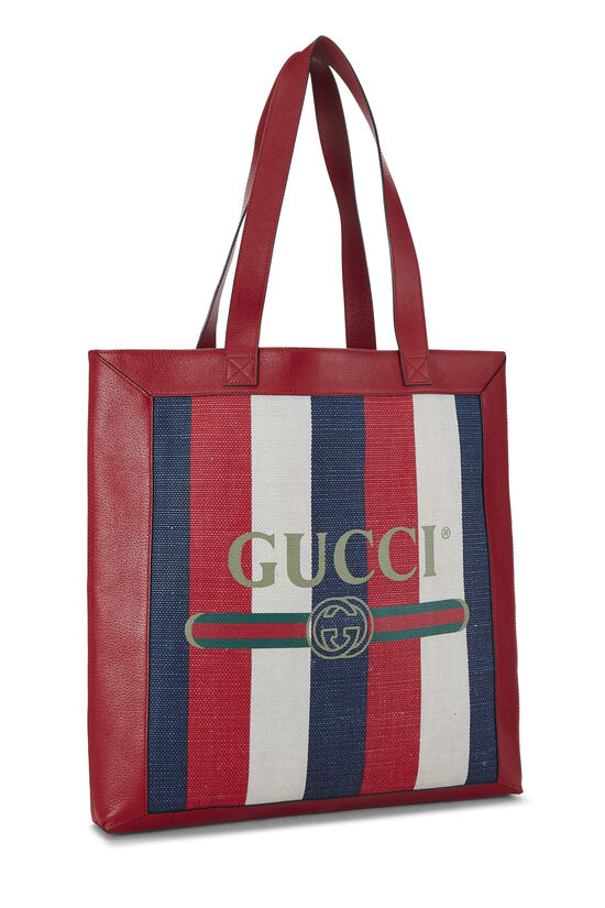 Red Leather & Canvas Sylvie Baiadera Tote, , large image number 1