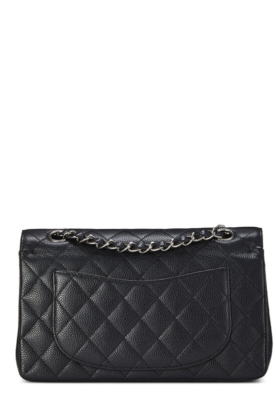 Black Quilted Caviar Classic Double Flap Small, , large image number 3