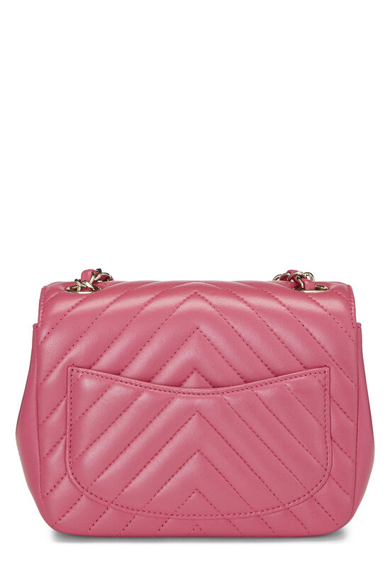 Pink Quilted Lambskin Classic Square Flap Mini, , large image number 3