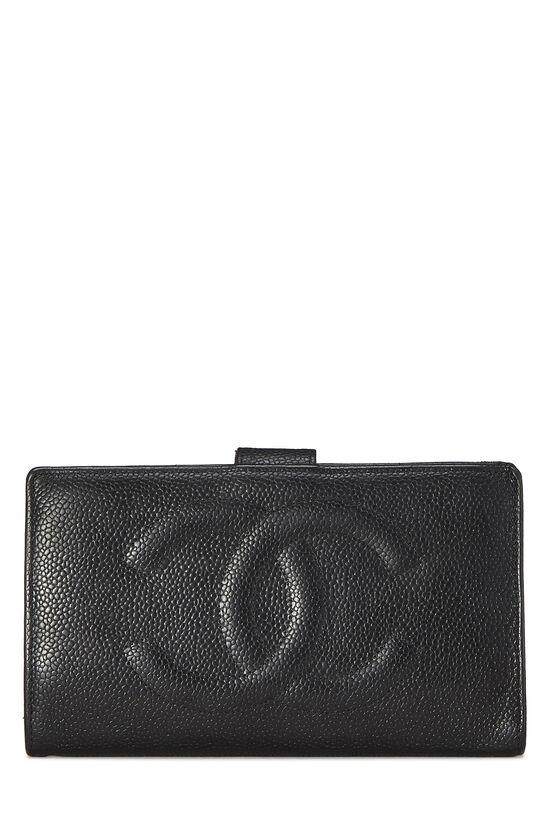 Black Caviar 'CC' Timeless Long Wallet, , large image number 0