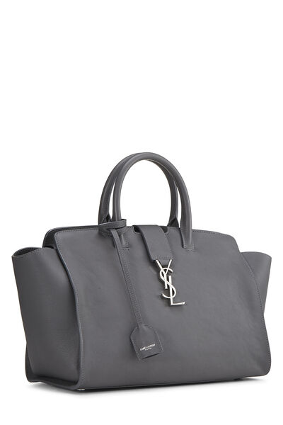 Grey Leather Downtown Cabas Small, , large