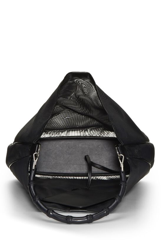 Black Mesh Bamboo Shoulder Bag, , large image number 5
