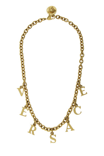 Gold Logo Letters Necklace