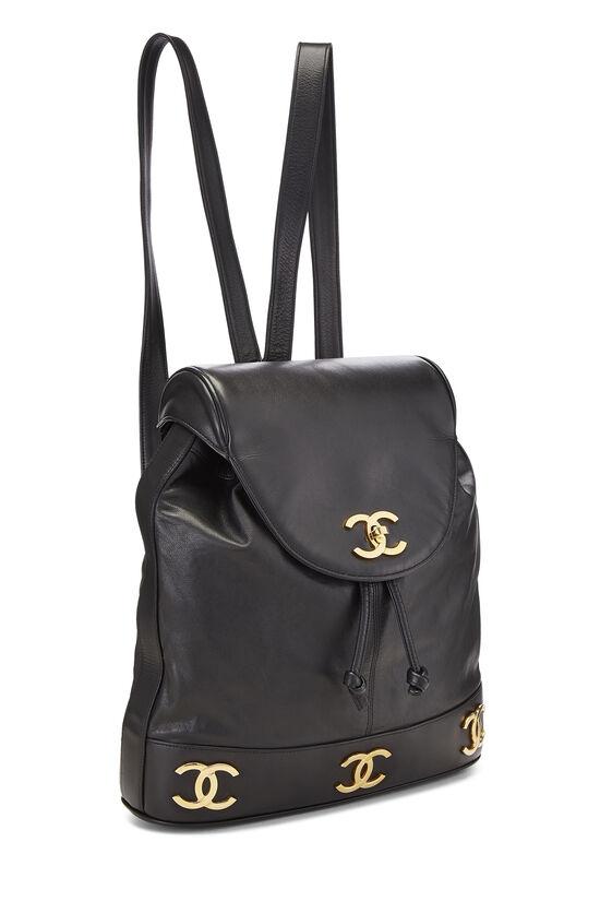 Black Lambskin 3 'CC' Backpack Large, , large image number 1