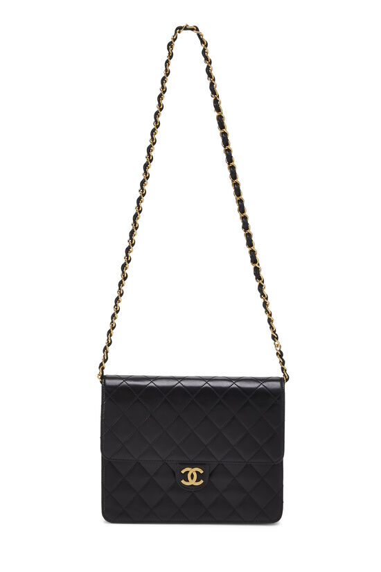 Black Quilted Lambskin Ex Flap Small, , large image number 6