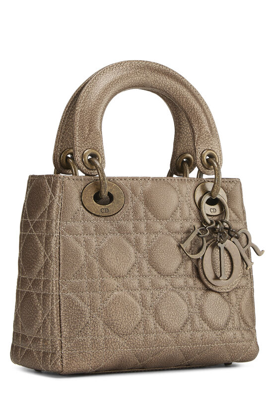 Bronze Cannage Quilted Lambskin Lady Dior Mini, , large image number 1