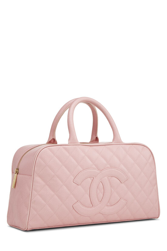 Pink Quilted Caviar Bowler Small, , large image number 1