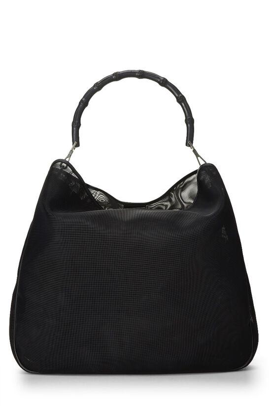 Black Mesh Bamboo Shoulder Bag, , large image number 0