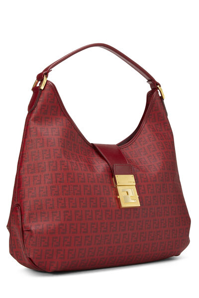 Red Zucchino Coated Canvas Hobo Large, , large