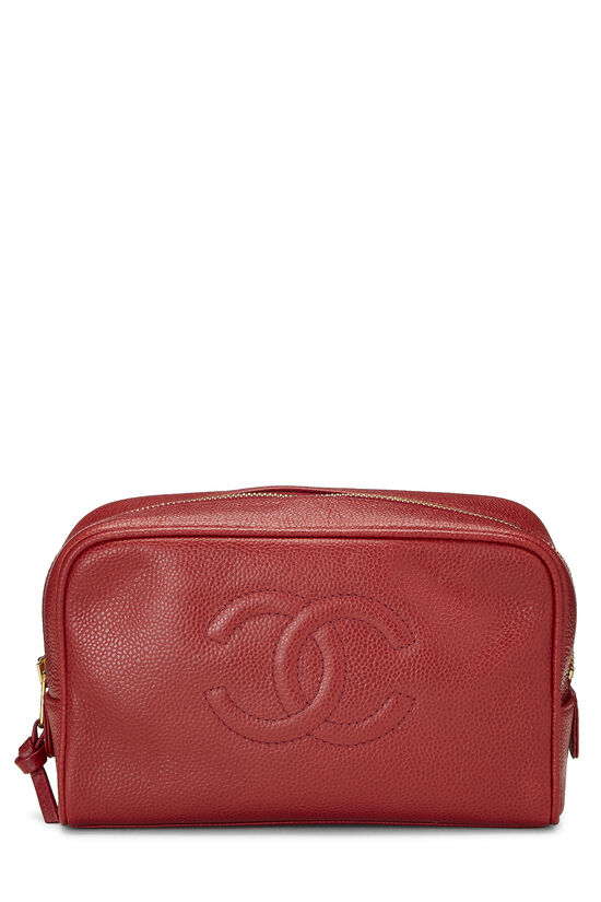 Red Caviar 'CC' Cosmetic Bag, , large image number 0