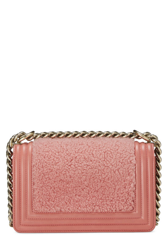 Pink Shearling Boy Bag Small, , large image number 3