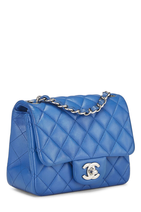 Blue Quilted Lambskin Classic Square Flap Mini, , large image number 1