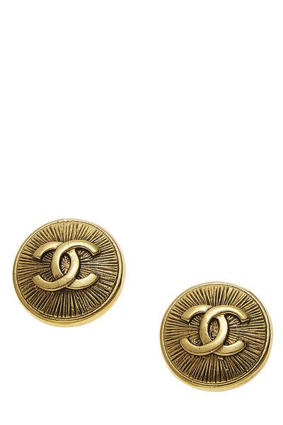 Gold 'CC' Sunburst Earrings