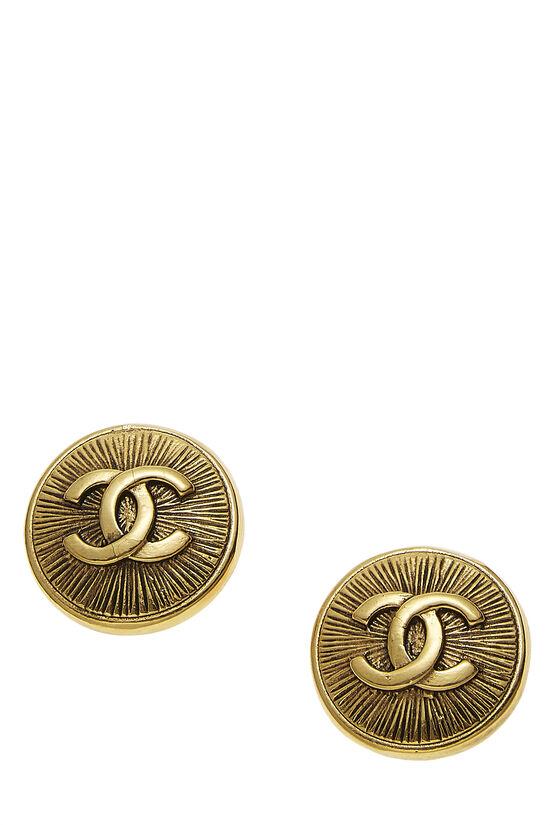 Gold 'CC' Sunburst Earrings, , large image number 0