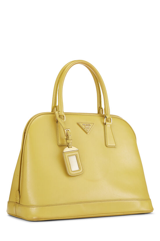Yellow Vernice Saffiano Dome Tote, , large image number 1