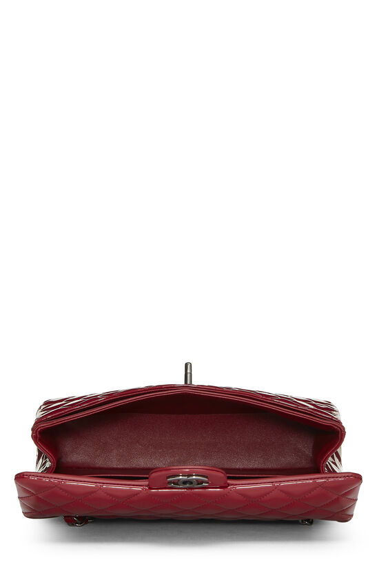 Red Quilted Patent Leather Classic Double Flap Medium, , large image number 5