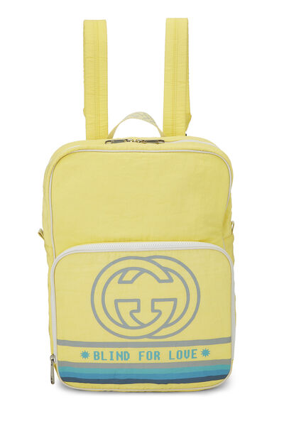 Yellow Nylon GG Backpack