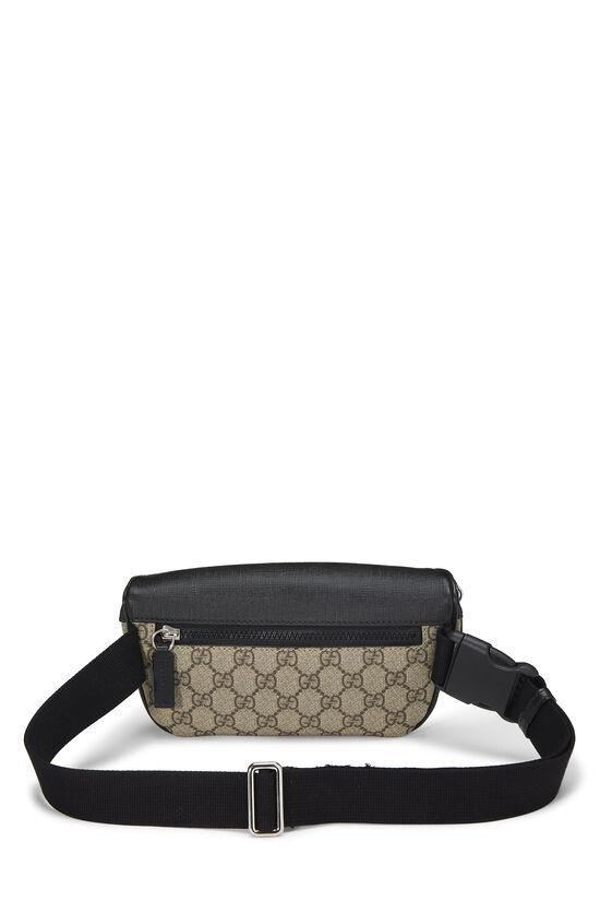 Black & Original GG Supreme Canvas Eden Belt Bag, , large image number 3