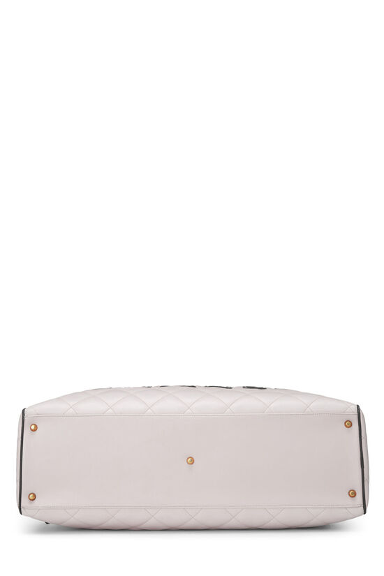 White Quilted Calfskin Bowler, , large image number 4