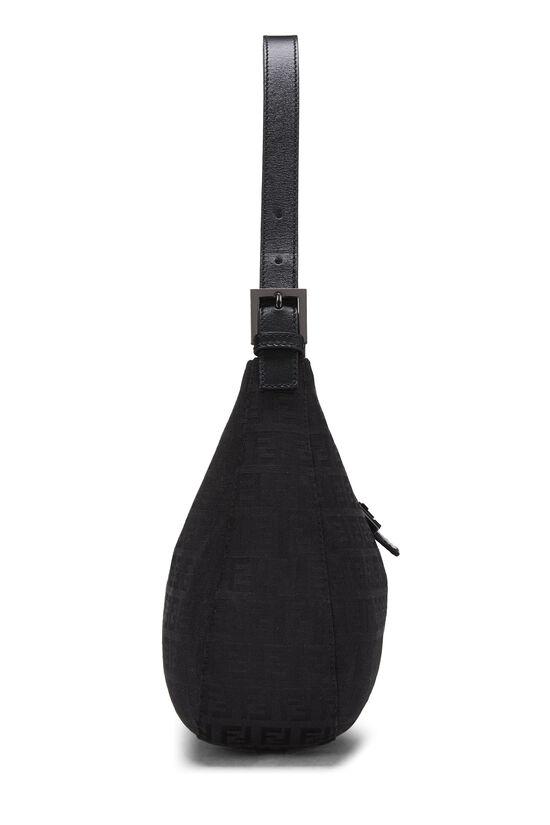 Black Zucchino Canvas Shoulder Bag, , large image number 2