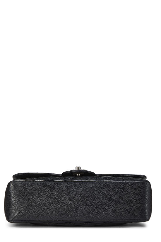 Black Quilted Caviar Classic Double Flap Small, , large image number 4