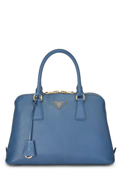 Blue Saffiano Promenade Medium