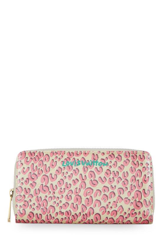 Stephen Sprouse x Louis Vuitton Blanc Corail Vernis Leopard Zippy Continental Wallet, , large image number 0