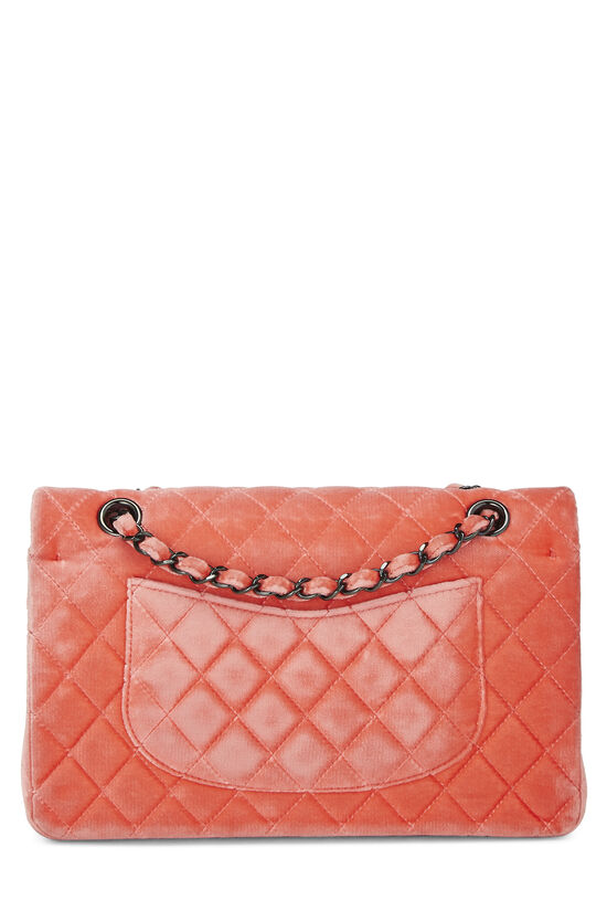 Coral Quilted Velvet Classic Double Flap Medium, , large image number 3