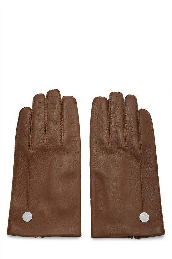 Brown Lambskin Gloves, , large image number 0