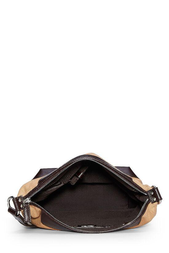 Beige Canvas Shoulder Bag, , large image number 5