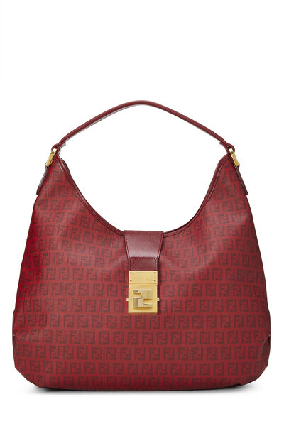 Red Zucchino Coated Canvas Hobo Large