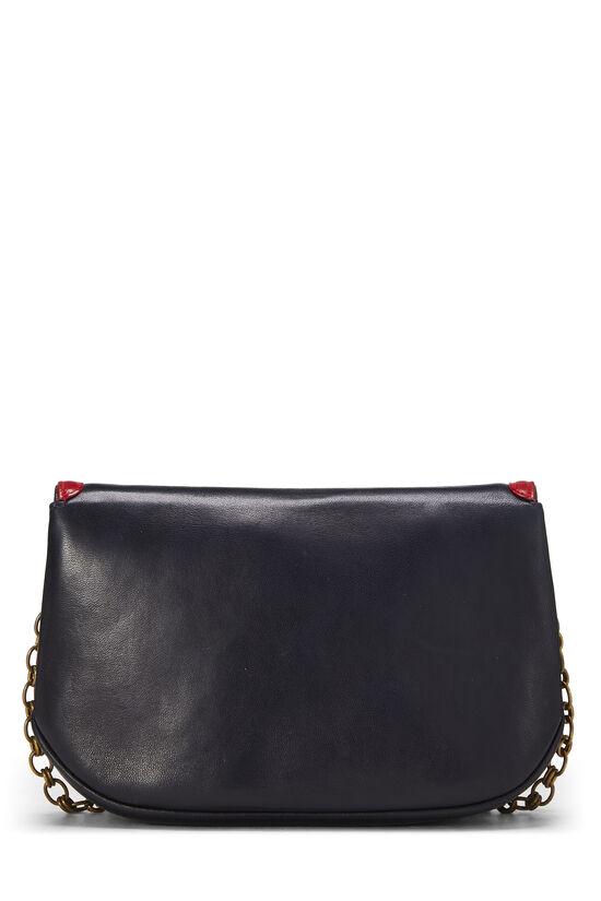 Navy & Red Lambskin 'CC' Shoulder Bag, , large image number 3