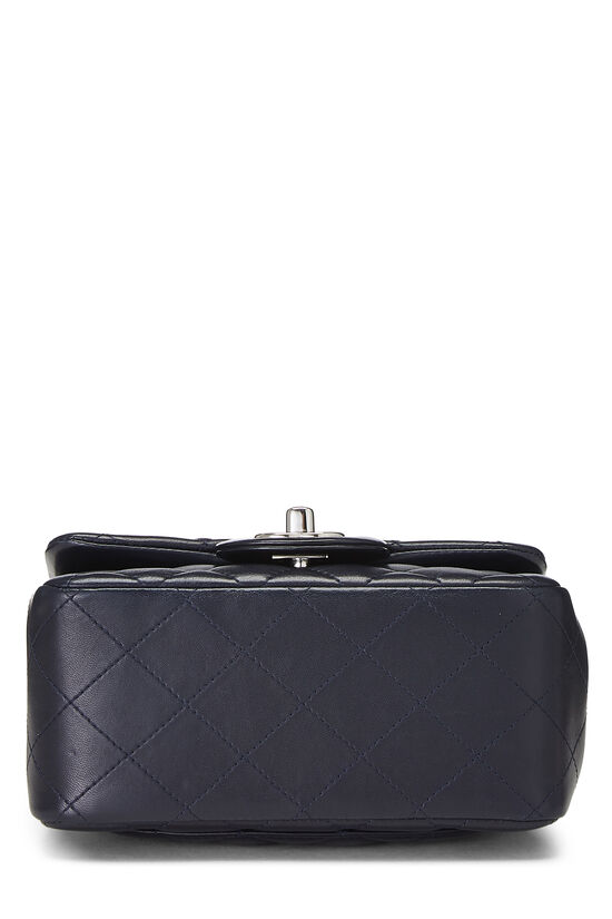 Navy Quilted Lambskin Classic Square Flap Mini, , large image number 4