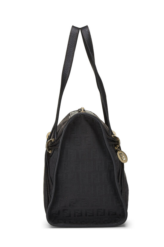 Black Zucchino Canvas Handbag Small, , large image number 2