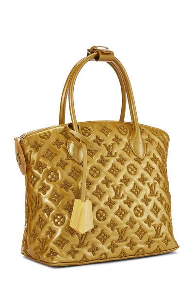 Gold Monogram Patent Leather Fascination Lockit, , large
