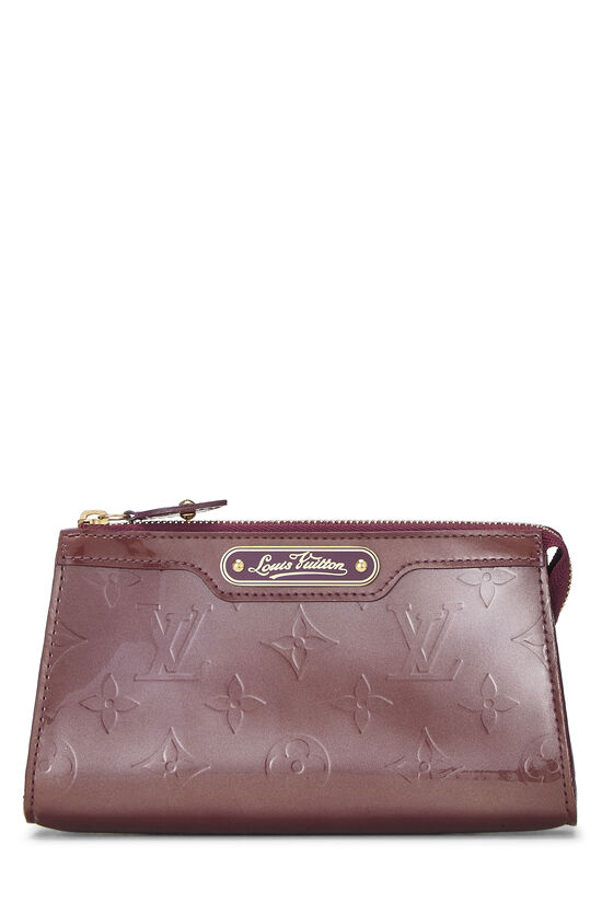 Purple Monogram Vernis Trousse Cosmetic Pouch, , large image number 0