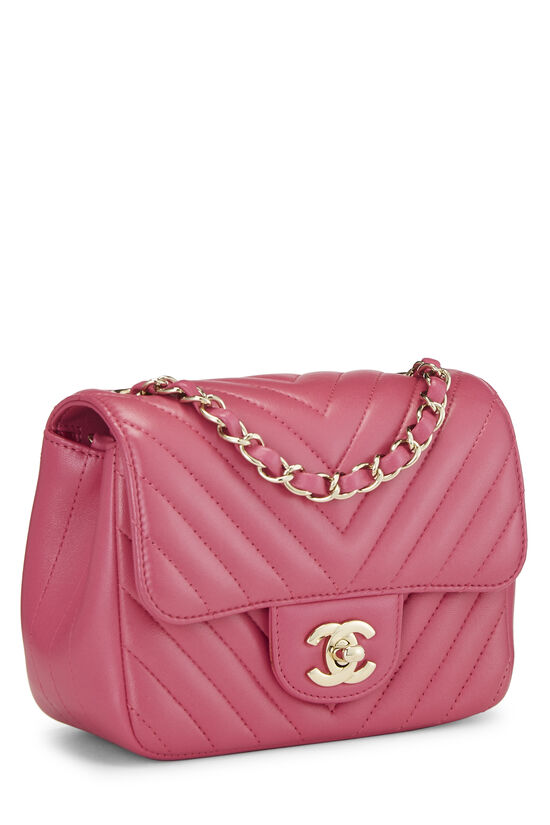 Pink Quilted Lambskin Classic Square Flap Mini, , large image number 1