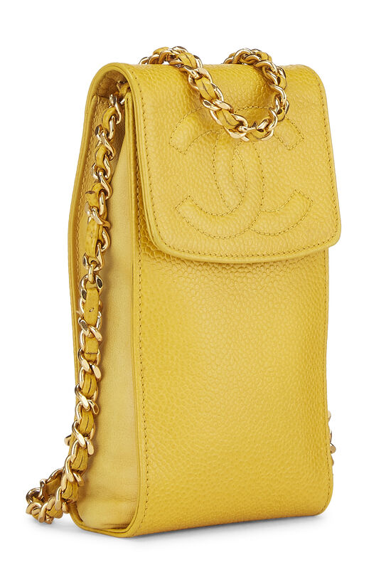 Yellow Caviar Timeless 'CC' Crossbody Pouch, , large image number 1