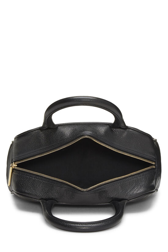 Black Quilted Caviar Bowler Mini, , large image number 5