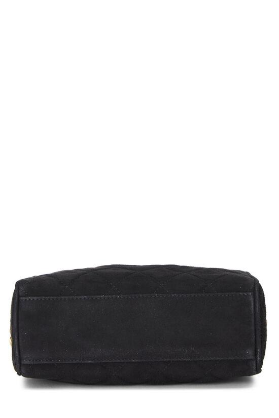 Black Suede Diamond 'CC' Camera Bag Mini, , large image number 5