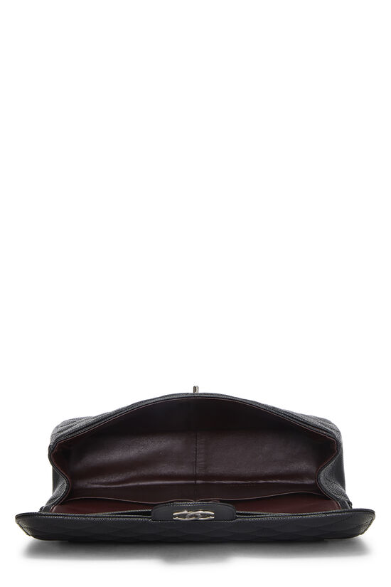Black Quilted Caviar New Classic Double Flap Jumbo, , large image number 5