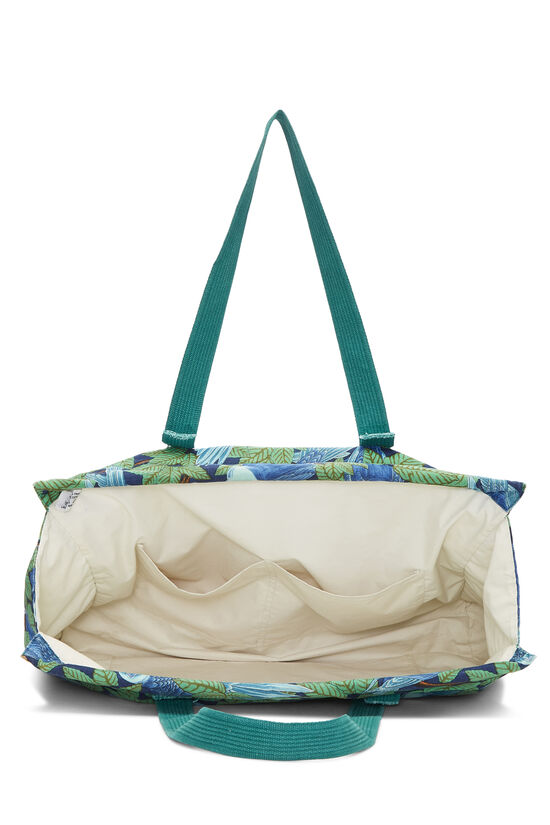 Green & Blue Tropical Canvas Tote, , large image number 5