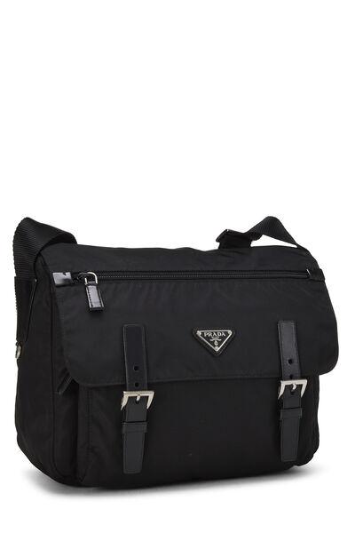 Black Vela Messenger Bag Small, , large