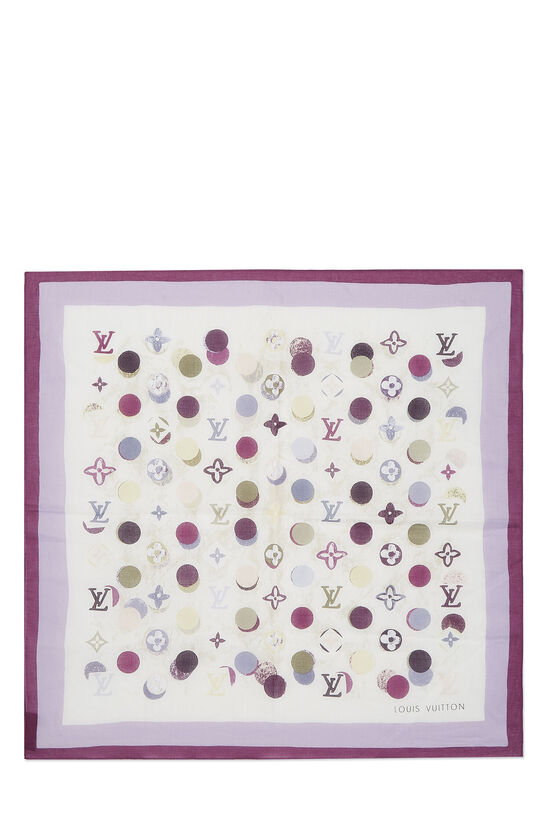 Purple Cotton Monogram Dots Bandana, , large image number 0