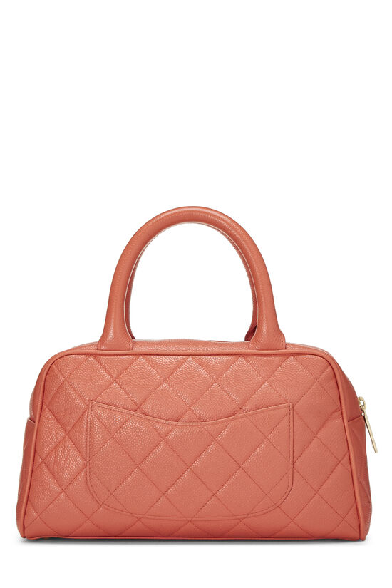 Coral Quilted Caviar Bowler Mini, , large image number 3