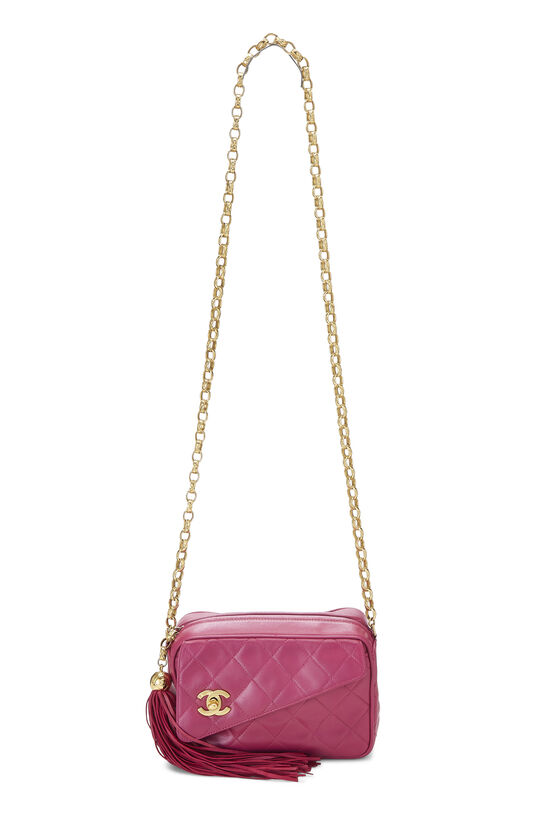 Pink Quilted Lambskin Pocket Camera Bag Mini, , large image number 1