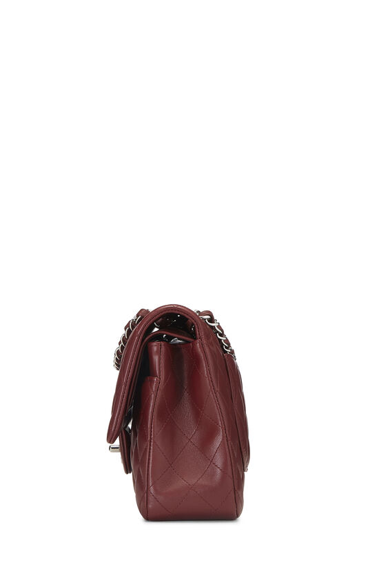 Burgundy Quilted Lambskin Classic Double Flap Medium, , large image number 2